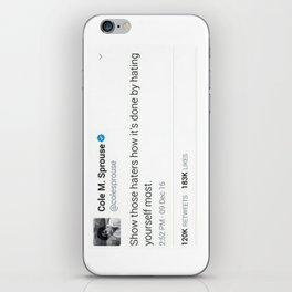 Cole M. Sprouse Tweeting About Haters iPhone Skin