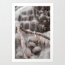 Frozen Winter Waterfall Art Print