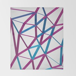 3D Futuristic GEO Lines Throw Blanket
