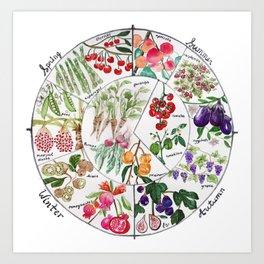 Seasonal Produce Chart Art Print