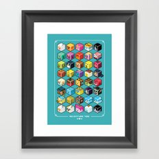 A.T. Cubies (40 CHARACTERS) Framed Art Print