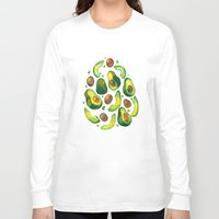 avocado Long Sleeve T-shirts featuring Avocado Avocado by LiLaiRa