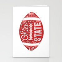 ohio state Stationery Cards featuring Ohio State Football by Kasi Turpin