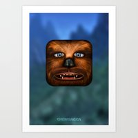 chewbacca Art Prints featuring Chewbacca by Michael Flarup