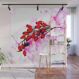 Rose Hips Wall Mural