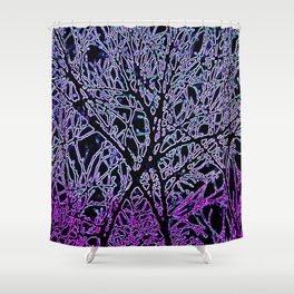 Tangled Tree Branches in Purple and Pink Shower Curtain
