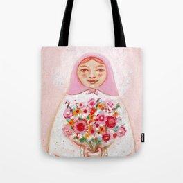 Matryoshka with flowers Tote Bag