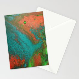 Rusty Jade: Acrylic Pour Painting Stationery Cards