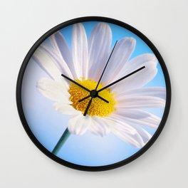 Daisy White 203 Wall Clock