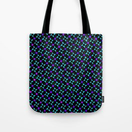 Purple and Light Blue Stars Tote Bag