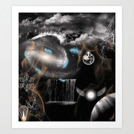 Black and White Surreal Dreamscape Art Print