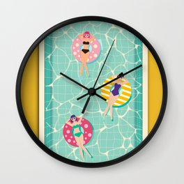 At The Pool Wall Clock