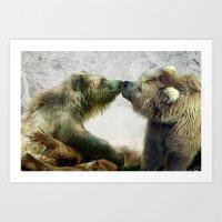bears Art Prints featuring Bears by Julie Hoddinott