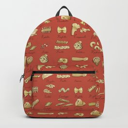 Italian Pasta Shapes Backpack