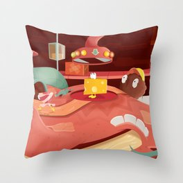 The Food In My Mouth Throw Pillow