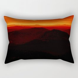 Red Horizon, Fire in the Distance. Rectangular Pillow