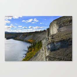 Cliffs on the Yukon River Canvas Print