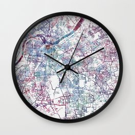 Louisville map (without name) Wall Clock