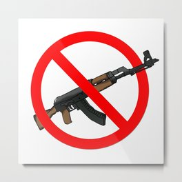 ak47 cross Metal Print