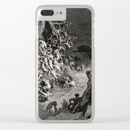 World Destroyed by Water Gustave Dore, 1866 Clear iPhone Case