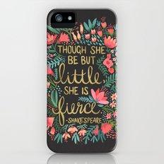 Little & Fierce on Charcoal iPhone SE Slim Case