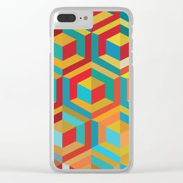 Lonely Cubes In Rooms Clear iPhone Case