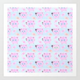 Jigglypuff pattern Art Print