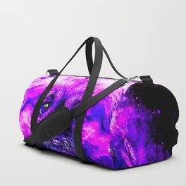 dog pekingese melting splatter watercolor Duffle Bag
