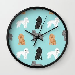 Toy Poodles mixed coat colors dog breed gifts pet portraits must haves poodles Wall Clock