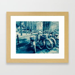 blue snow Framed Art Print