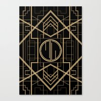 the great gatsby Canvas Prints featuring MJW- GREAT GATSBY STYLE by MATT WARING