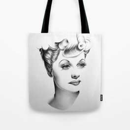 Lucille Ball Minimal Portrait Tote Bag