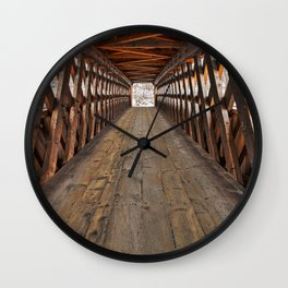 Jack O'Lantern Covered Bridge Wall Clock