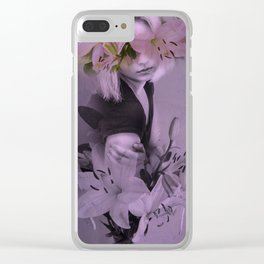 The girl who wanted to be a flower Clear iPhone Case
