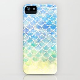 Pastel Watercolor Mermaid Scales iPhone Case