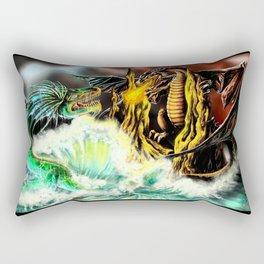 Land vs. Sea Rectangular Pillow