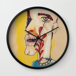 Ronald Harrington / Acrylic and Ink on paper Wall Clock