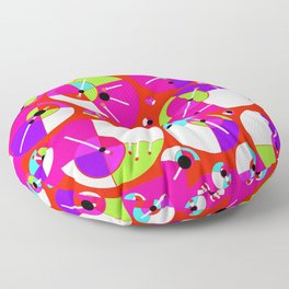 Bubble Red Floor Pillow