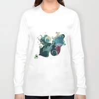 rabbits Long Sleeve T-shirts featuring Running Rabbits by ShadowPaw Pictures
