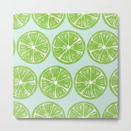 Lime pattern 05 Metal Print