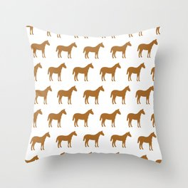 horses pattern Throw Pillow
