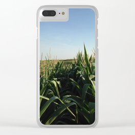 Falling Into Line Clear iPhone Case