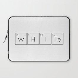 WHITe Chemical Formula Laptop Sleeve