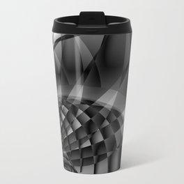 Architecture 101 fractal spiral structure, black, white Travel Mug