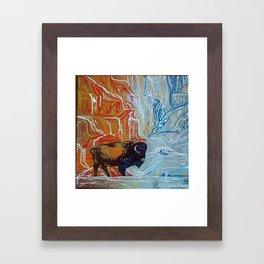 Yellowstone Bison Framed Art Print