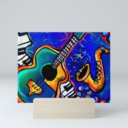 Carnival Jazz Painting Mini Art Print