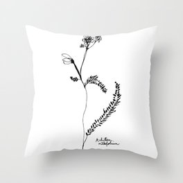 Achillea millefolium Throw Pillow