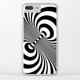 Dualism (black & white) Clear iPhone Case
