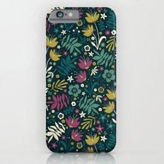 Midnight Florals (pop) Slim Case iPhone 6s