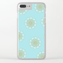 Yellow&White flowers Clear iPhone Case